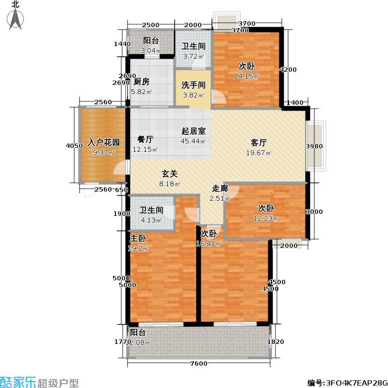高教公寓户型4室2卫1厨