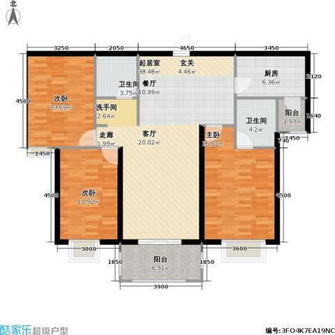 高教公寓3室0厅2卫1厨113.70㎡户型图