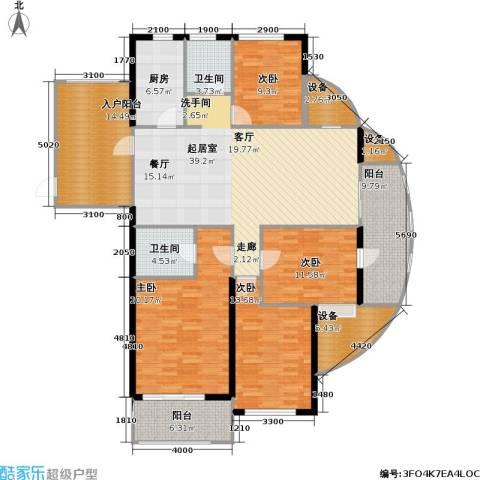 高教公寓4室0厅2卫1厨163.84㎡户型图