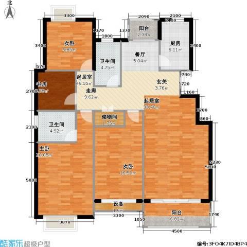 翰林名都4室0厅2卫1厨139.00㎡户型图