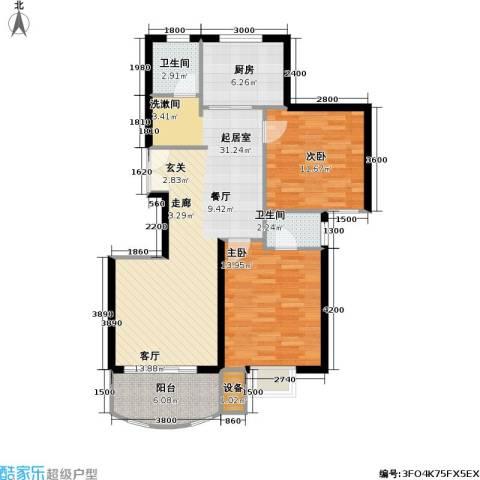 兴华童话世界2室0厅2卫1厨106.00㎡户型图