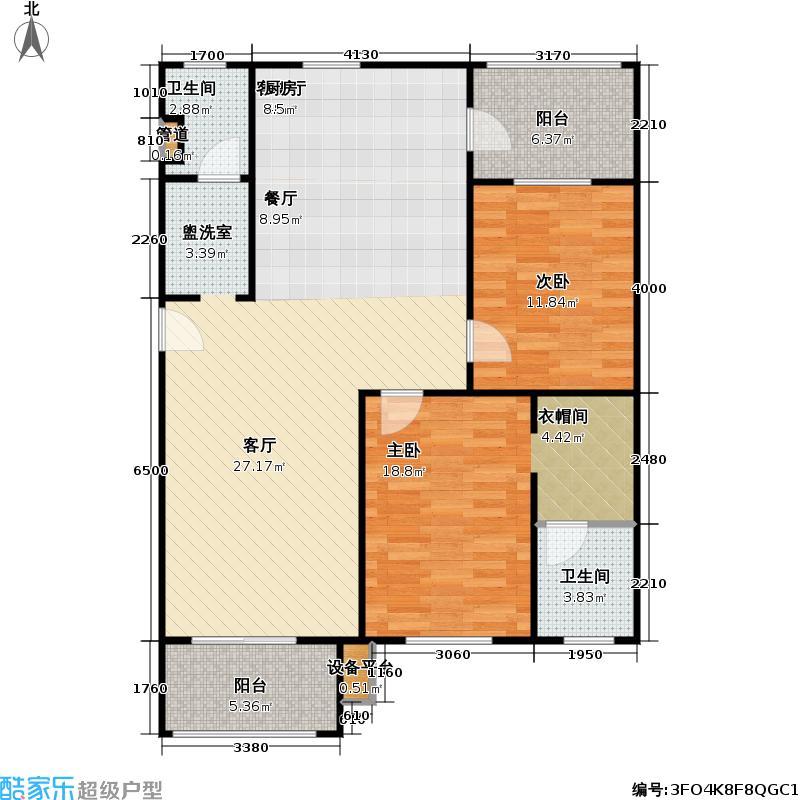 正和温泉花园户型2室1厅2卫