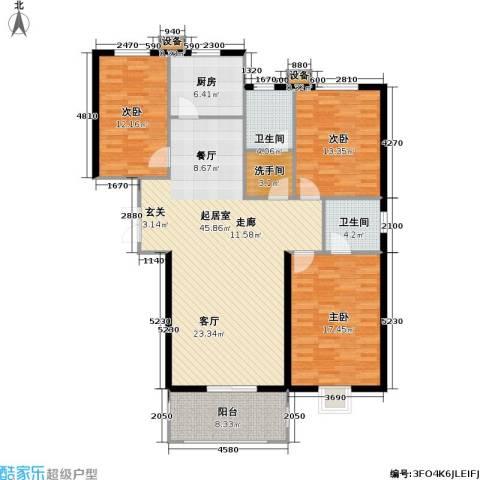 康诗丹郡3室0厅2卫1厨159.00㎡户型图