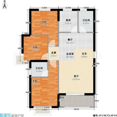 御海龙湾3室0厅2卫1厨110.00㎡户型图