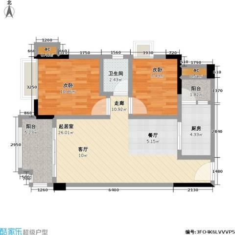 幸福湾2室0厅1卫1厨78.00㎡户型图