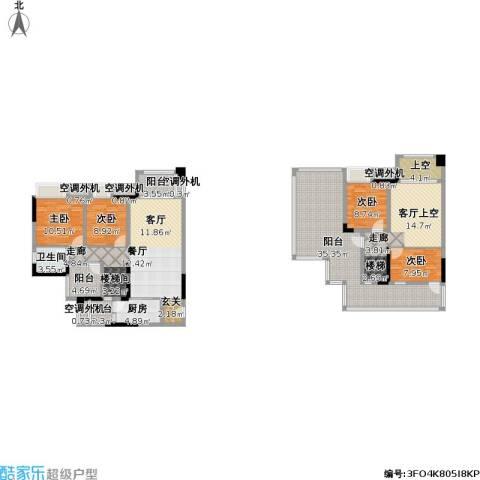 保利江上明珠锦园4室1厅1卫1厨224.00㎡户型图