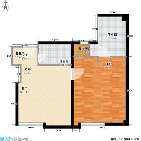 唯e都汇1室1厅2卫0厨75.00㎡户型图