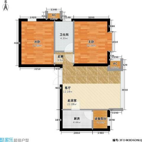 里外里公寓2室0厅1卫1厨85.00㎡户型图