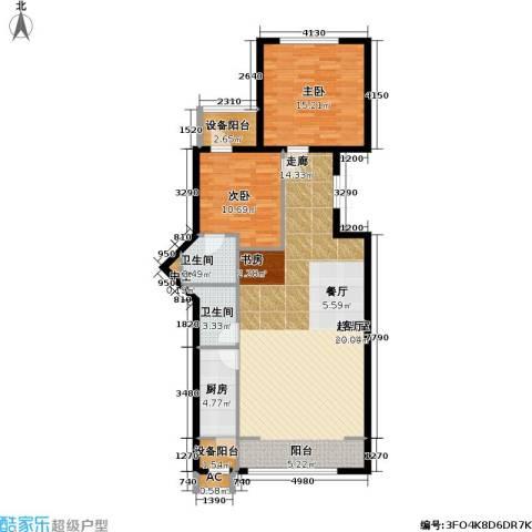 里外里公寓2室0厅2卫1厨150.00㎡户型图