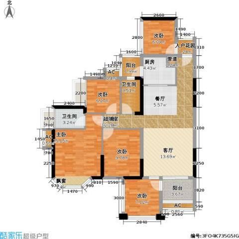 光耀荷兰小城5室0厅2卫1厨113.00㎡户型图