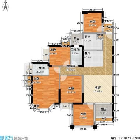 光耀荷兰小城5室0厅2卫1厨114.00㎡户型图