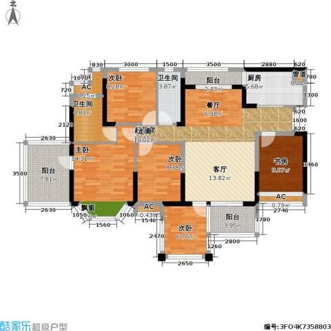 光耀荷兰小城5室0厅2卫1厨119.00㎡户型图
