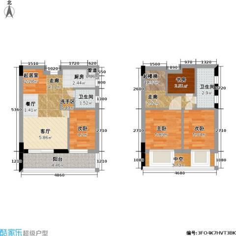 五洲国际电子城4室0厅2卫0厨62.00㎡户型图