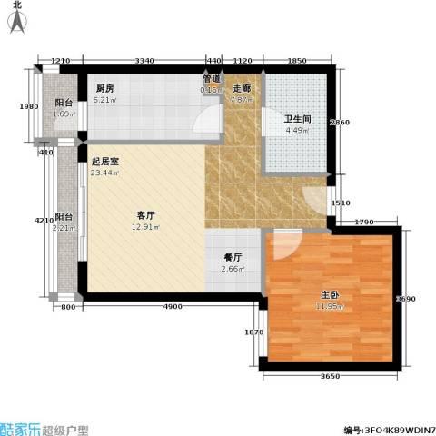 名苑雅居(Olive-澳立国际)1室0厅1卫1厨58.00㎡户型图