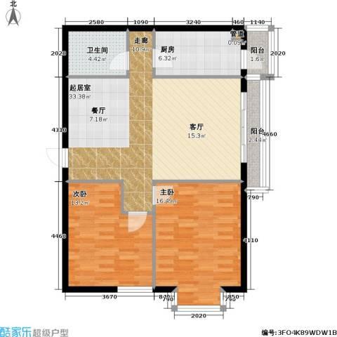 名苑雅居(Olive-澳立国际)2室0厅1卫1厨87.00㎡户型图