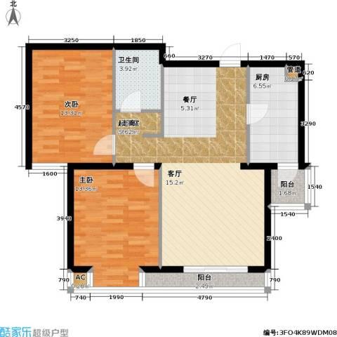 名苑雅居(Olive-澳立国际)2室0厅1卫1厨83.00㎡户型图
