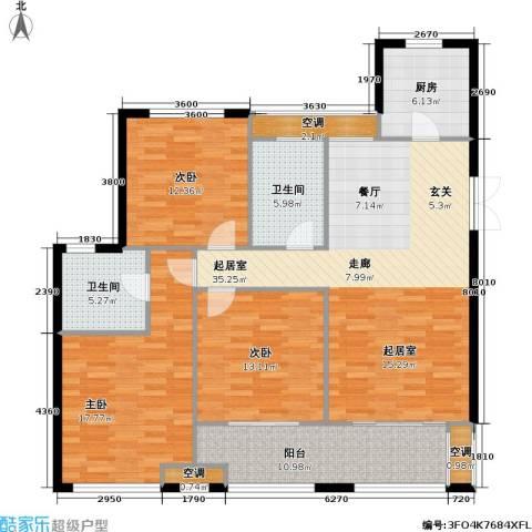 浙广首府3室0厅2卫1厨152.00㎡户型图