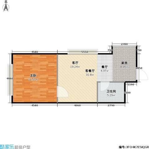 潍坊世贸中心1室1厅1卫0厨78.00㎡户型图