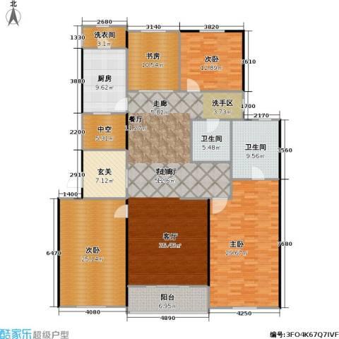 九龙仓国宾1号4室1厅2卫1厨195.00㎡户型图