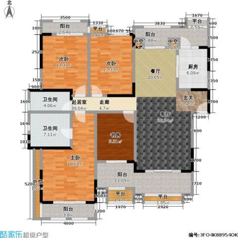 富力盈溪谷4室0厅2卫1厨140.00㎡户型图