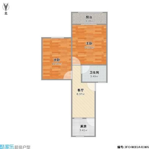 春雷路431弄小区2室1厅1卫1厨55.00㎡户型图