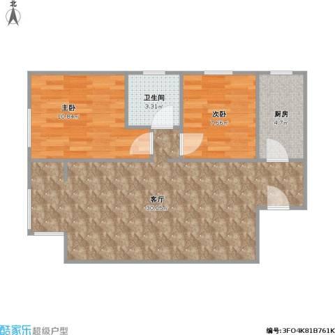 天洋城4代2室1厅1卫1厨76.00㎡户型图