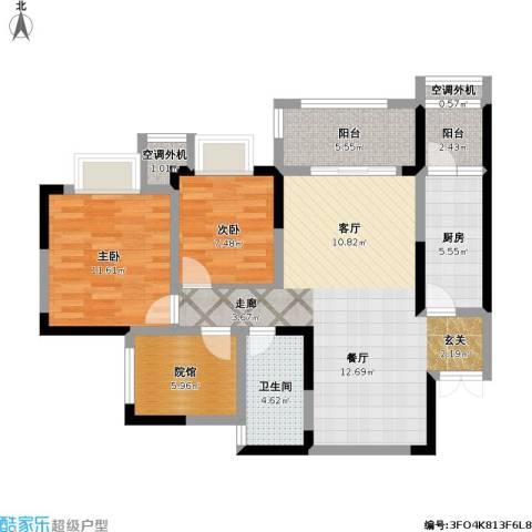 美利山公园城市2室1厅1卫1厨109.00㎡户型图