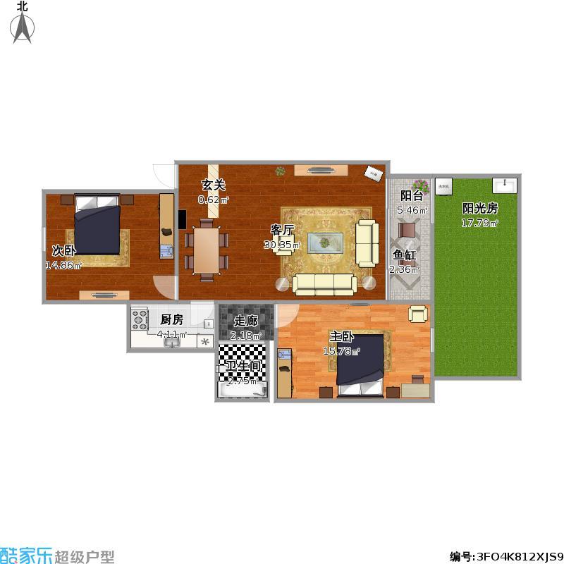 京京自己设计的家83.9