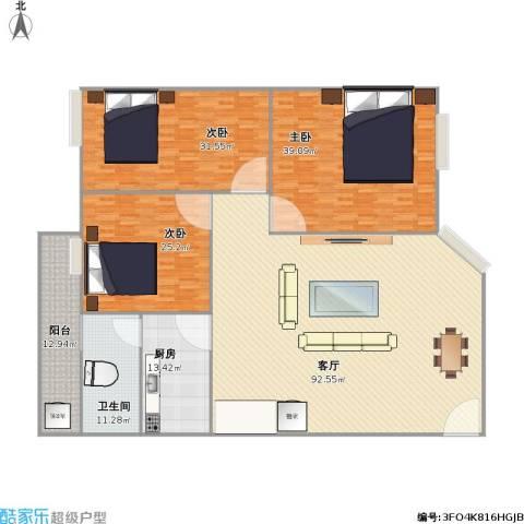 金坤花园3室1厅1卫1厨295.00㎡户型图
