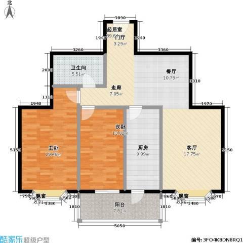 水岸长桥(长安星园)2室0厅1卫1厨107.00㎡户型图