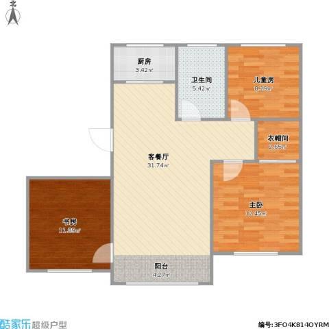 金鼎凤凰城3室1厅1卫1厨102.00㎡户型图