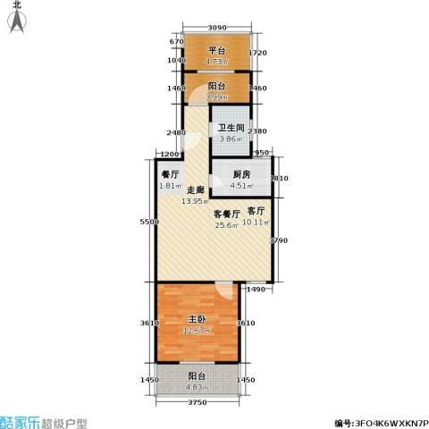 虹北公寓1室1厅1卫1厨82.00㎡户型图