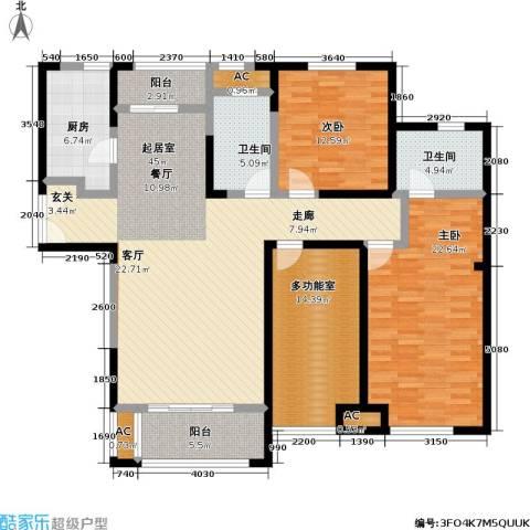 国金怡桂苑2室0厅2卫1厨141.00㎡户型图