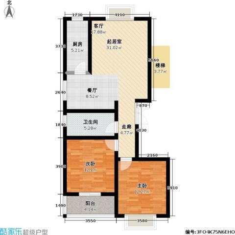 高新佳园2室0厅1卫1厨109.00㎡户型图