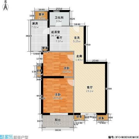 玉泉小区二期(秀蝶・双座)2室0厅1卫1厨91.00㎡户型图