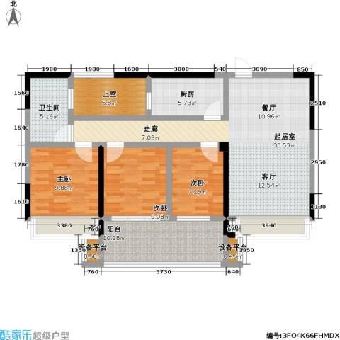 金色领寓3室0厅1卫1厨100.00㎡户型图