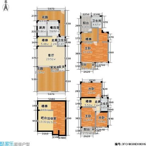 光福锦泽苑4室0厅3卫1厨256.00㎡户型图