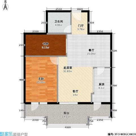 水岸长桥(长安星园)2室0厅1卫1厨91.00㎡户型图