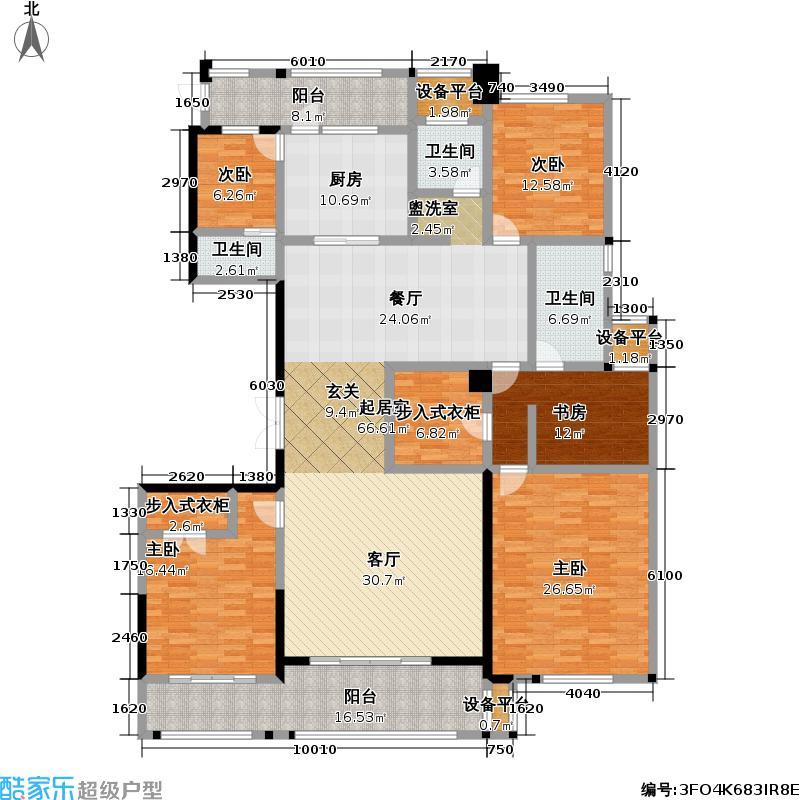 山水和园232.00㎡A户型4室2厅2卫