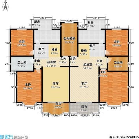 昌鑫世纪苑4室0厅2卫2厨283.55㎡户型图