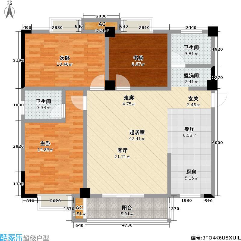 哈尔滨广场135.11㎡项目1、4样式大户型3室2厅2卫LL