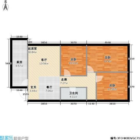 宋家庄经济适用房3室0厅1卫1厨90.00㎡户型图