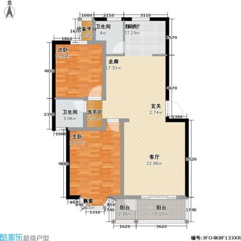 印象江南・太扬家园2室1厅2卫0厨114.00㎡户型图