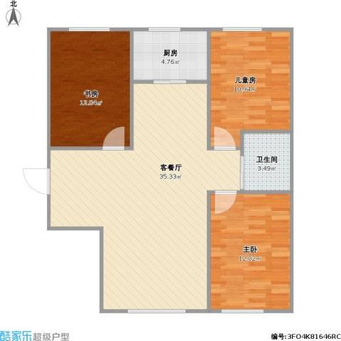 像素公园3室1厅1卫1厨105.00㎡户型图