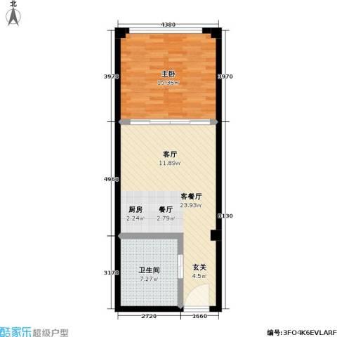 派客公寓1室1厅1卫0厨53.00㎡户型图