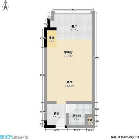 漕湖之星1厅1卫0厨40.00㎡户型图