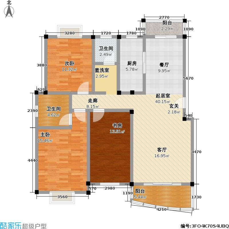 虹田苑一期112.00㎡房型: 三房; 面积段: 112 -124 平方米;户型