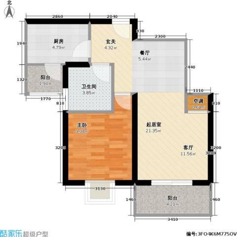 新梅绿岛苑1室0厅1卫1厨60.00㎡户型图