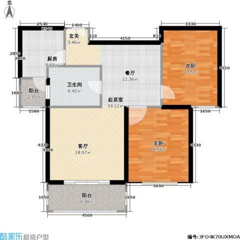 名门世家四期2室0厅1卫1厨93.00㎡户型图