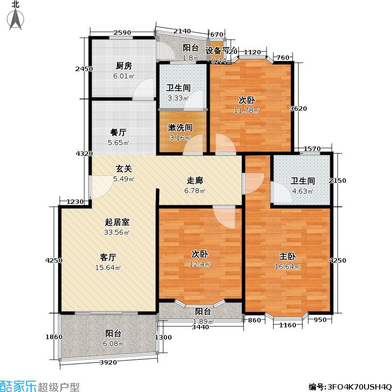 都林嘉苑103.14㎡房型: 三房; 面积段: 103.14 -117.59 平方米; 户型